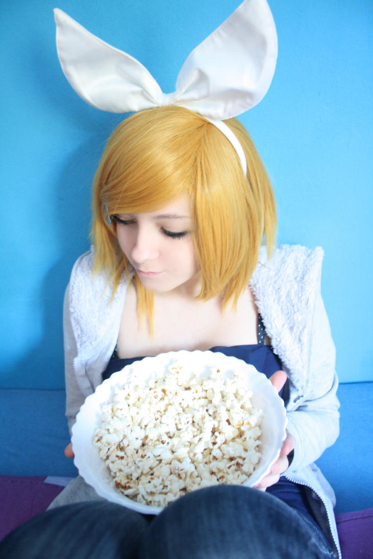 Kagamine Rin - Popcorn by water-ice-chaos