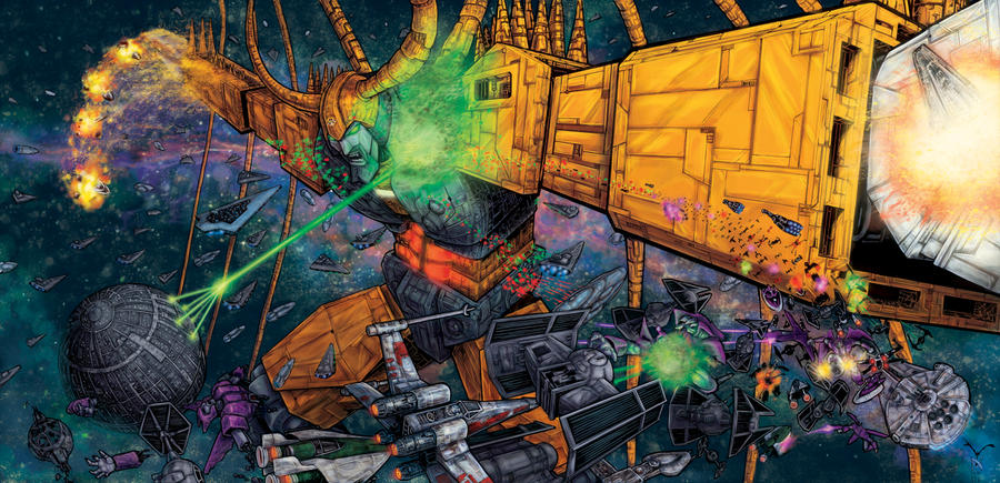 Unicron versus Star Wars Colored