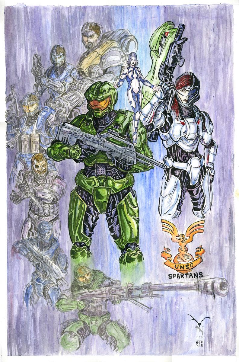 Halo-Spartans Color by artrobot9000