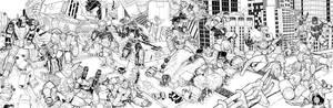 Power Rangers vs Transformers BW