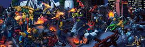 Power Rangers vs Transformers Color
