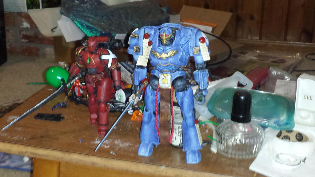 Terminator Marine and Space Marine by artrobot9000