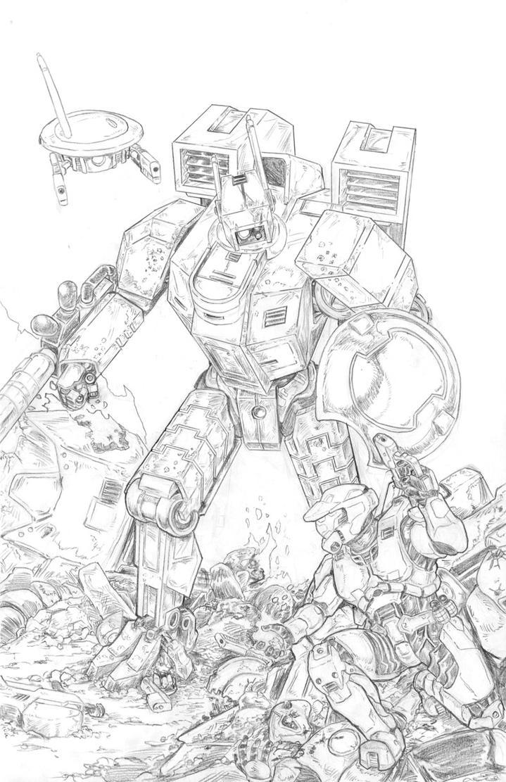 Tau vs Halo by artrobot9000