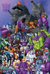 100 Decepticons G1 colored