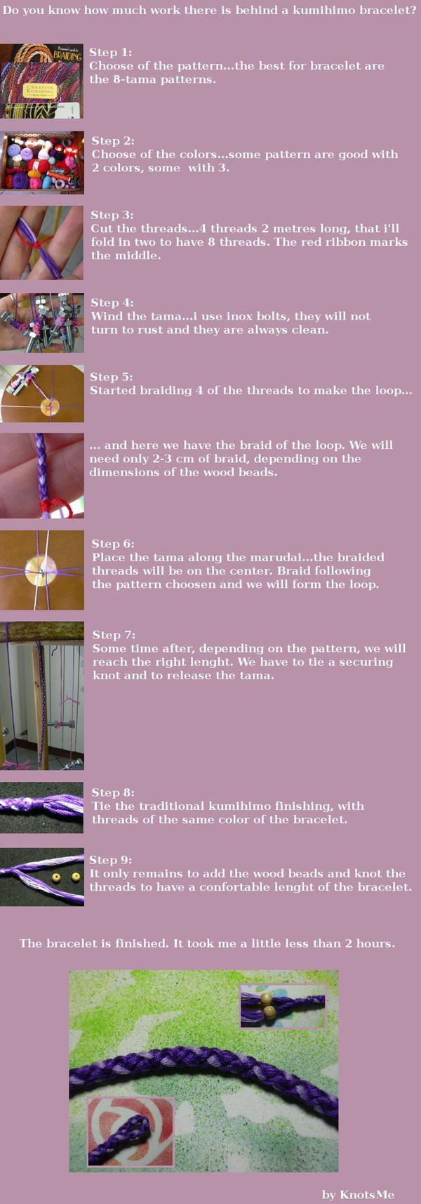 Kumihimo bracelet tutorial by knotsme