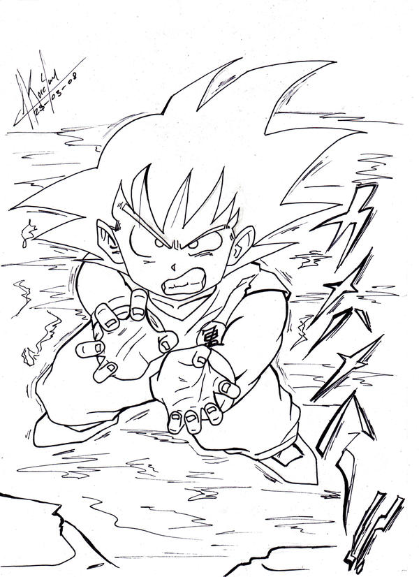 goku no kamehameha by koreyan on DeviantArt