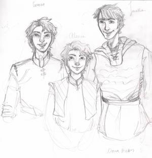 Geroge, Allanna, and Jonathan