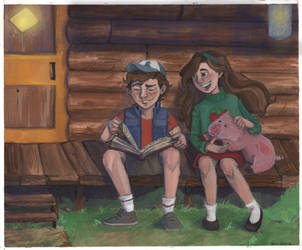Gravity Falls Porch by disneylife