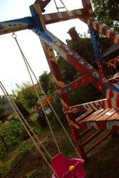 Funny decorated garden swing by JudLorin