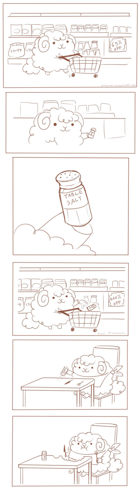 Lewis goes grocery shopping by butt-prince-ike