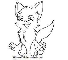 Kitten lineart free by Kibawolf33
