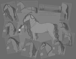 Horse lineart |Kladruber|10$ or 1000pt by Fayrein