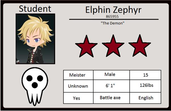 My Soul Eater OC ID By Elphin Zephyr