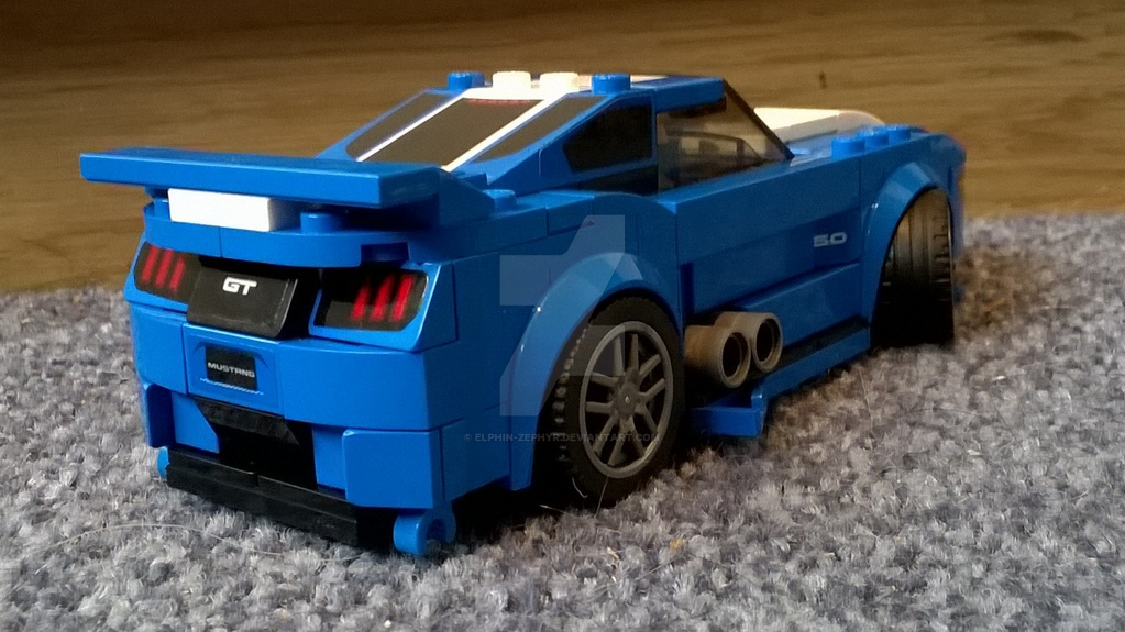 lego modified ford mustang gt back view by elphin zephyr. Black Bedroom Furniture Sets. Home Design Ideas
