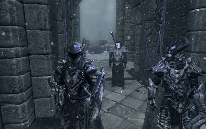 Skyrim] At the College of Winterhold by Elphin-Zephyr on