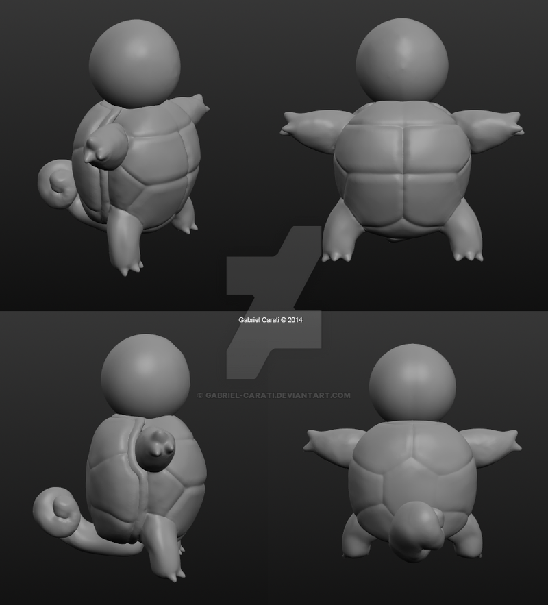 3D Modelling - Squirtle by Gabriel-Carati on DeviantArt