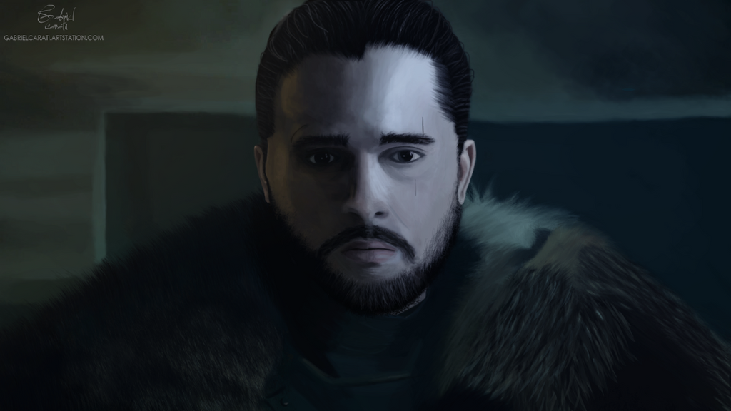 Jon Snow - The King in the North by Gabriel-Carati