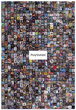 Playstation 1 Collage Poster