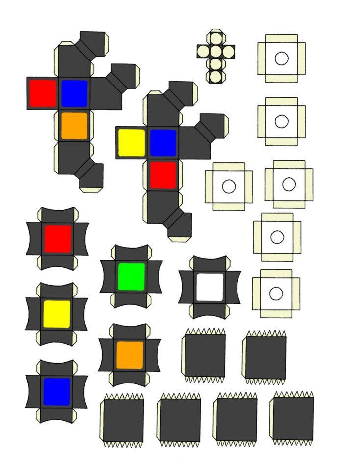 Как сделать кубикрубик из бумаги