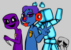 Phone Guy and Friends by Andiiiematronic