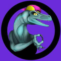 Meme Raptor with Hat