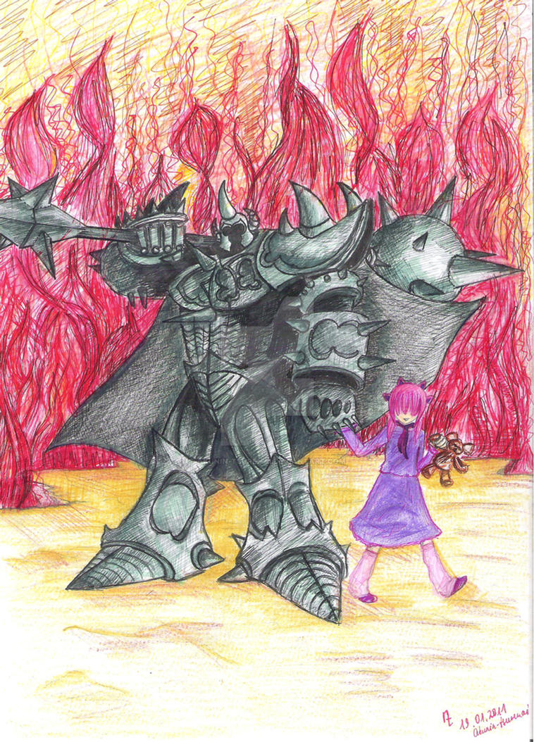 Mordekaiser and Annie by akunin-tsurenai