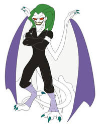 Joker Gargoyles by MalachiteCrow