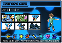 Trainer Card antidote by Antidotethelizard