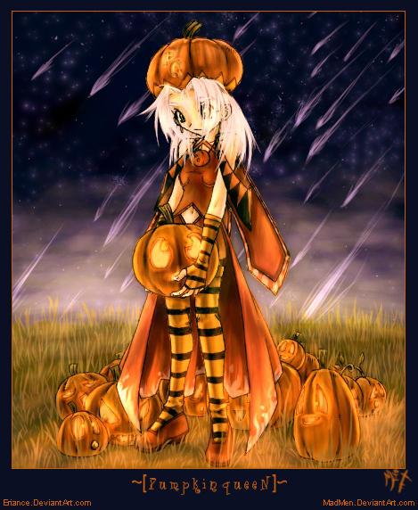 .:Pumpkin Queen- colored:. by madmen