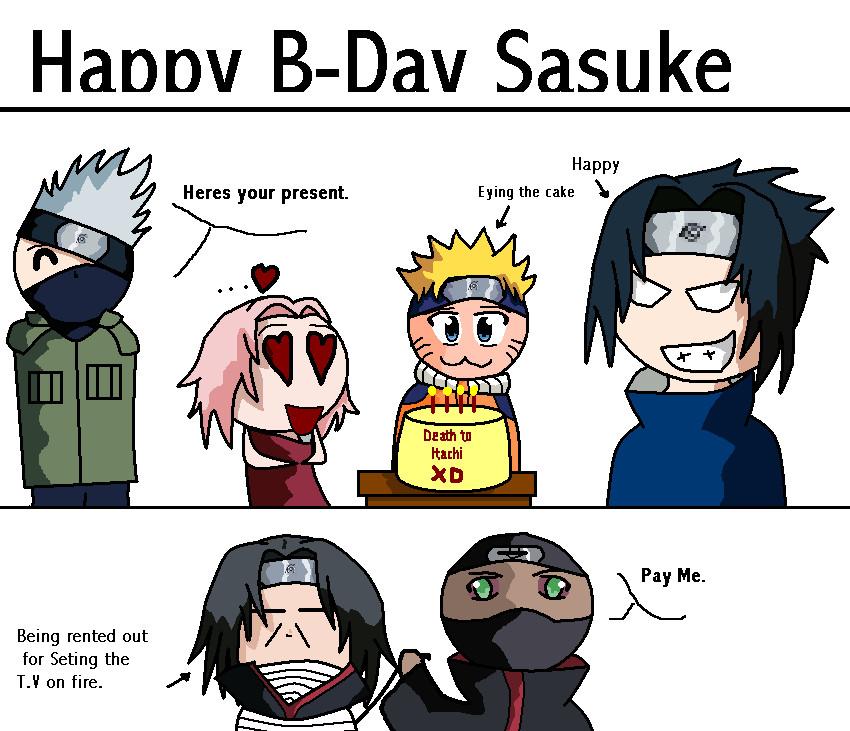 Sasuke Wakes Up By Uendy On Deviantart: Happy B-day Sasuke By Crazygoofball On DeviantArt