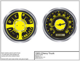 53 Chevy Custom Dash Gauges by AliceGraphix