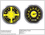 53 Chevy Custom Dash Gauges