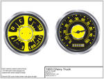 53 Chevy Custom Dash Gauges