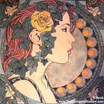 Art Nouveau Ivy Portrait
