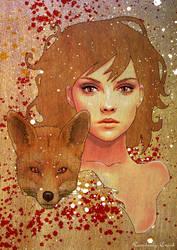 Kitsune Japanese Fox Spirit by enchantedgal