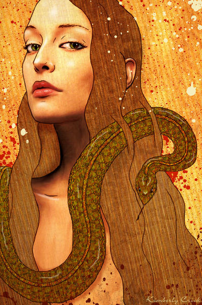 Eve And The Serpent By Enchantedgal On DeviantArt