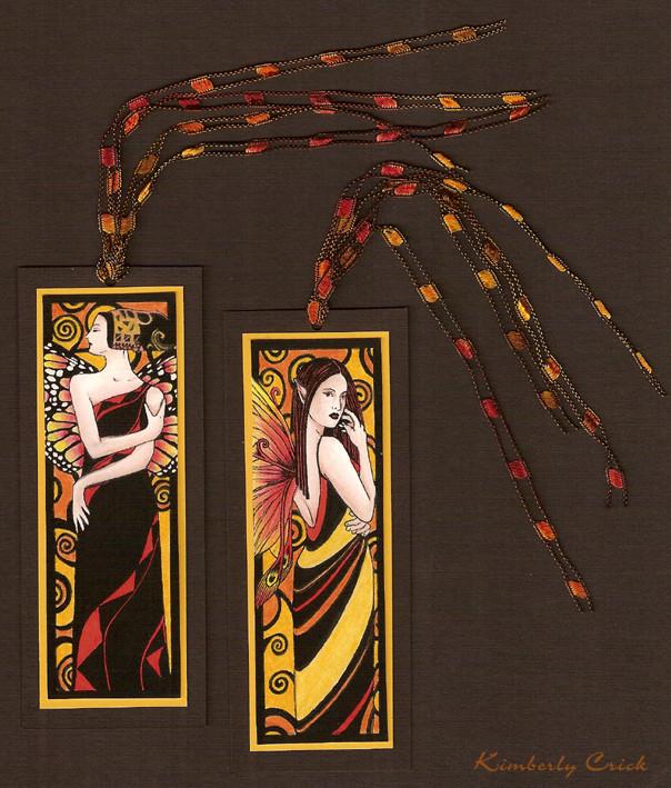 Art Deco Fairy Klimt Bookmarks by enchantedgal
