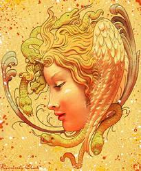 Medusa Cameo Greek Mythology by enchantedgal