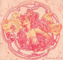 Art Nouveau Flower Fairy by enchantedgal