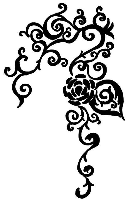 Rose Vines Drawings Rose Vine Drawing Tattoo