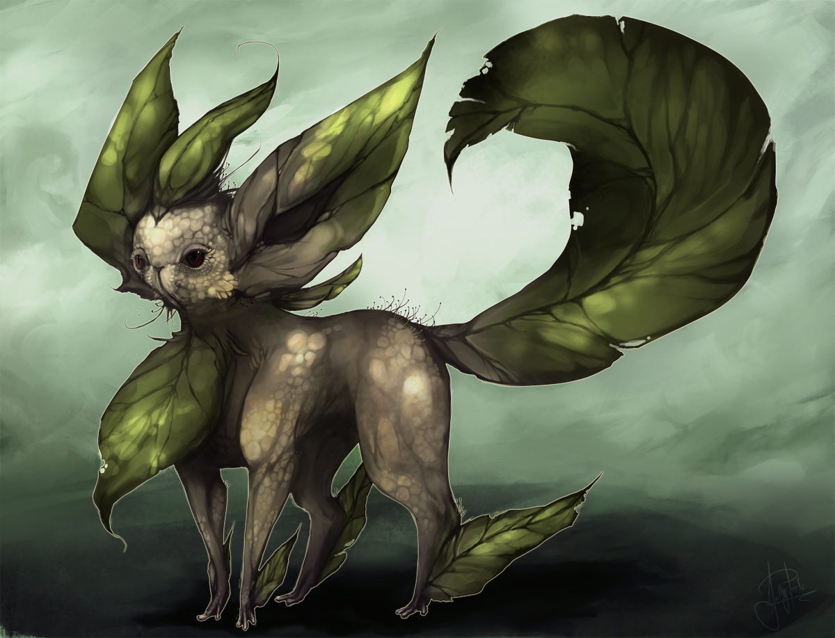 Leafeon my style by JollyPiik