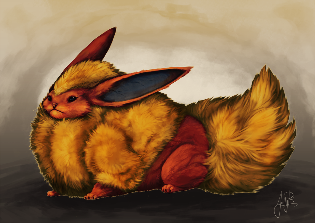 Flareon my style by JollyPiik