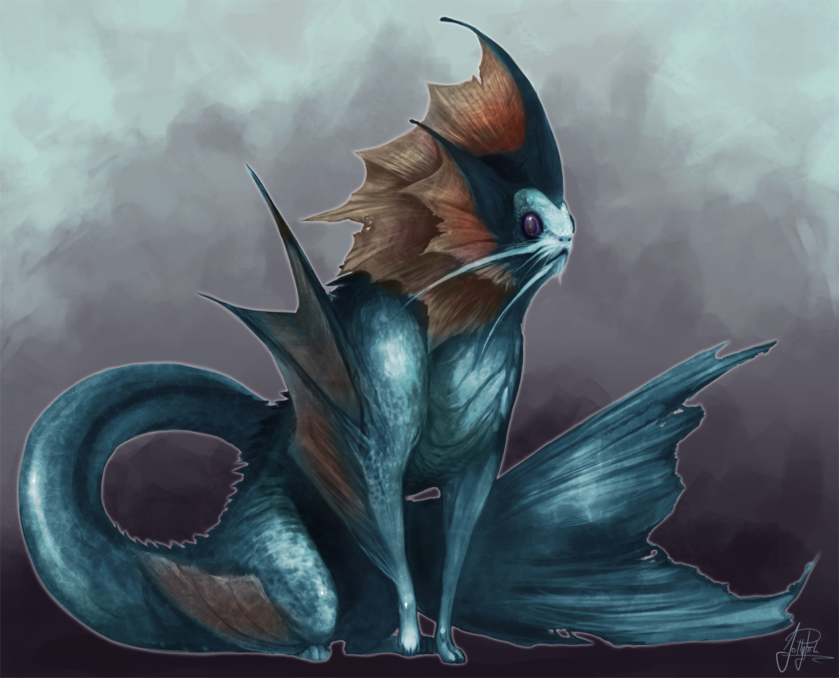 Vaporeon - my style by JollyPiik