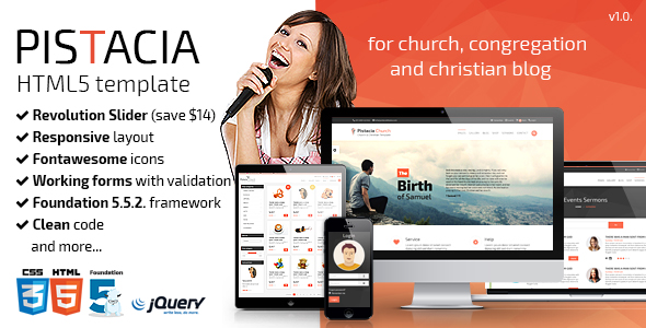 Hope - Church Responsive HTML5 Template by Pistaciatheme