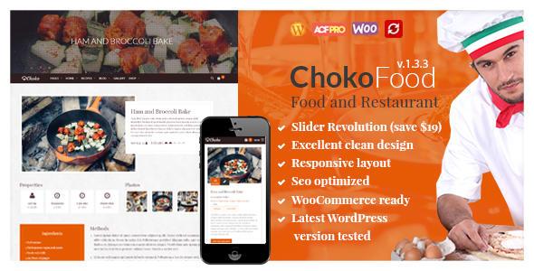 ChokoFood - Food and Restaurant WordPress Theme