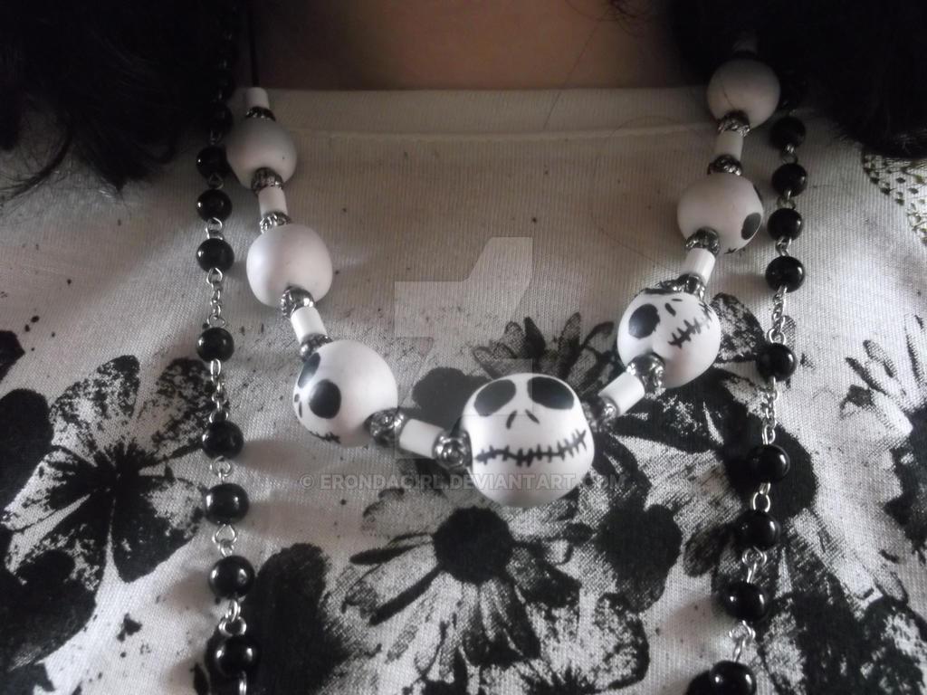 Jack Skellington necklace by erondagirl