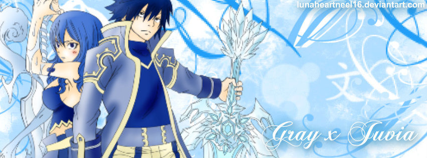 Gray X Juvia Facebook Timeline Cover By Lunaheartneel16