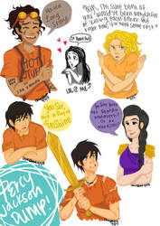 Percy Jackson Sketch Dump by chloisssx3