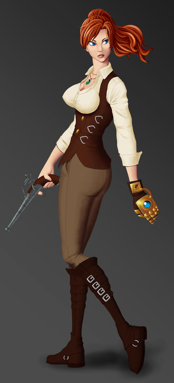 Concept Character Steampunk Girl By Exaelart On Deviantart