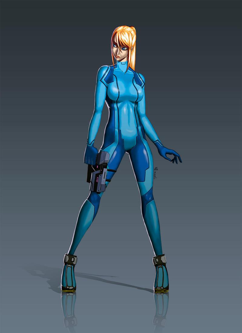 Zero suit samus tribute smallerr - 4 6